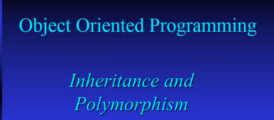 OOP Inheritance and Polymorphism